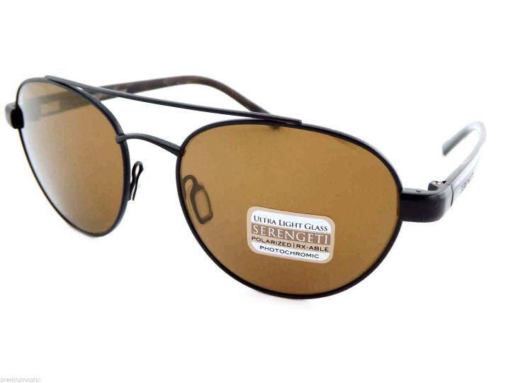 7be59172186 Details about Serengeti Mondello 7775 Sunglasses Black Frames Polarized  Glass Drivers Lens NEW